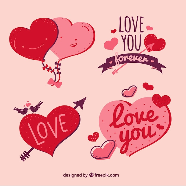 Love designs collection vector free download for Love design