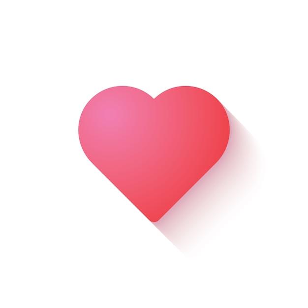 Download Premium Vector | Love heart icon in pink color