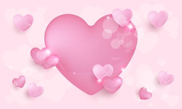 ピンクの愛 Premiumベクター