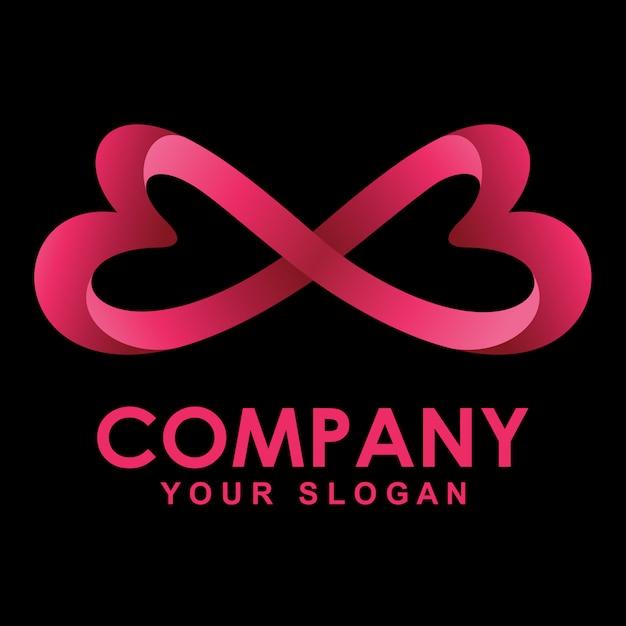 Love infinity logo Premium Vector