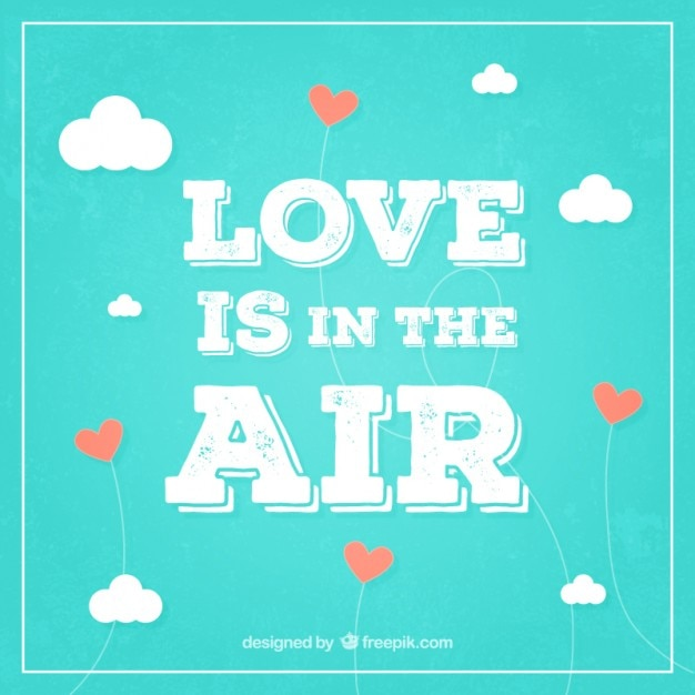 Love is in the air background in retro\ style