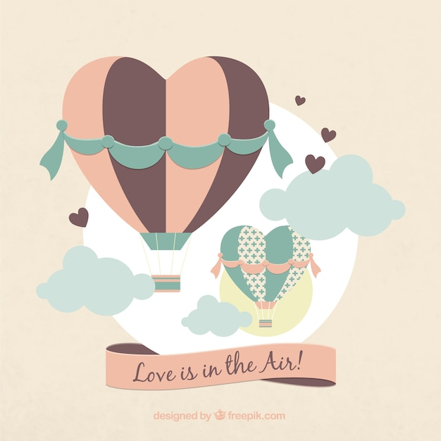 Love is in the air Vector | Free Download