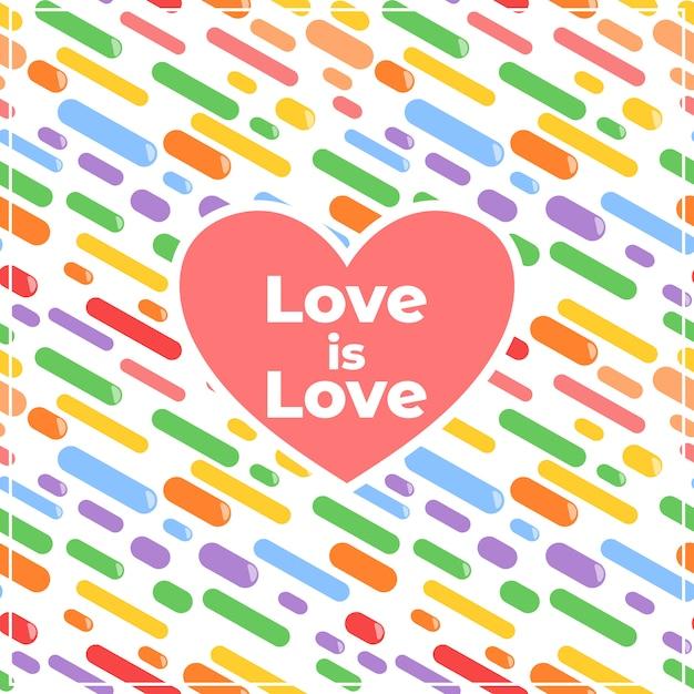 Love is love decorative background Premium Vector