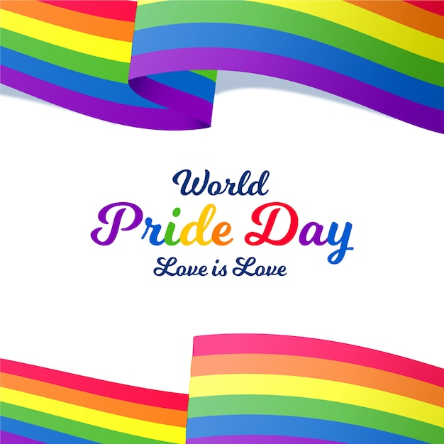 Love is love world pride day Free Vector