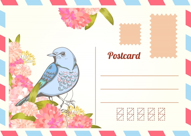 love letter with bird.  Free Vector