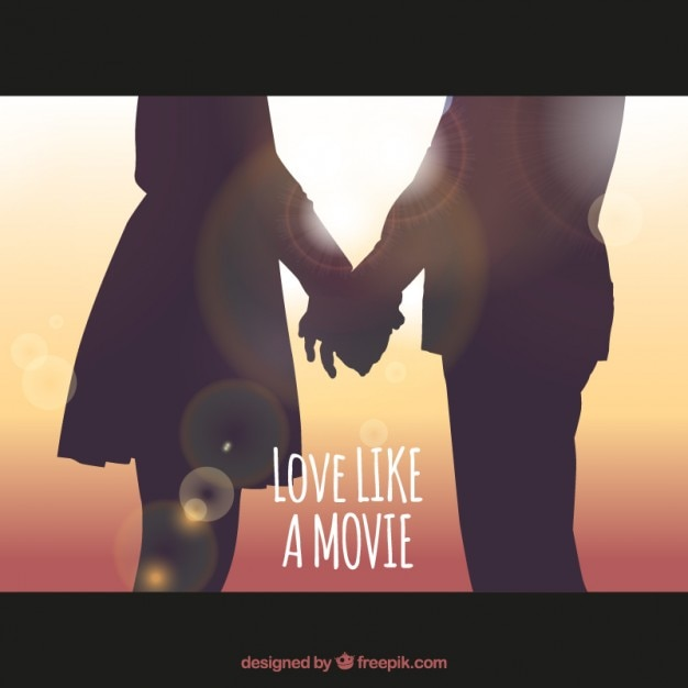 Love like a movie Free Vector