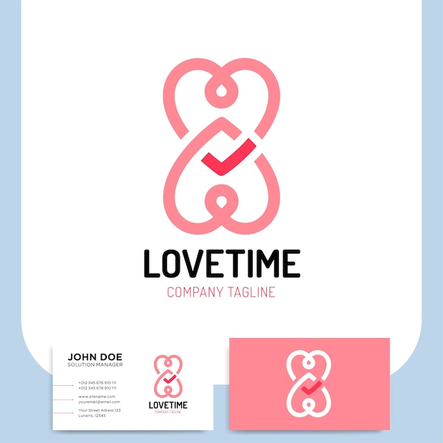 Love Logo Hearts Time And Infinity Symbols Valentine Relationship