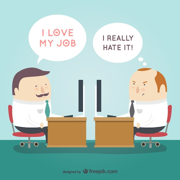 love or hate your job free vector - I Love My Job Do You Really Like Your Job