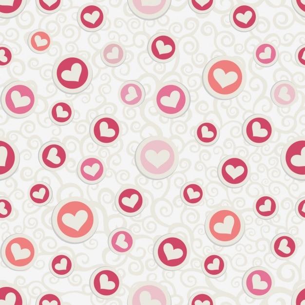 Love pattern design Free Vector