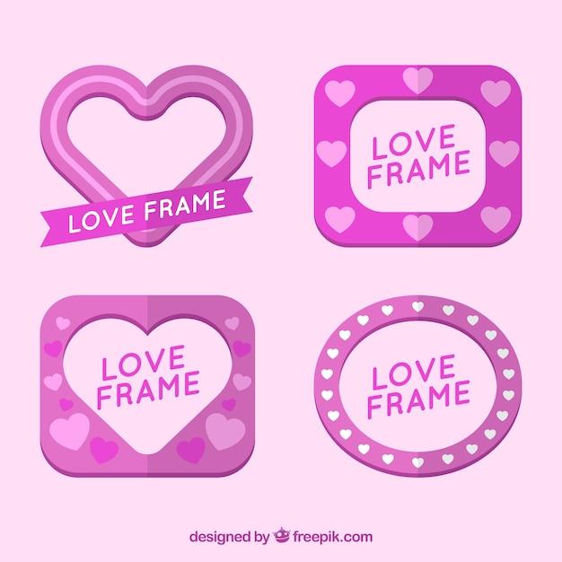 Download Love pink frames Vector   Free Download