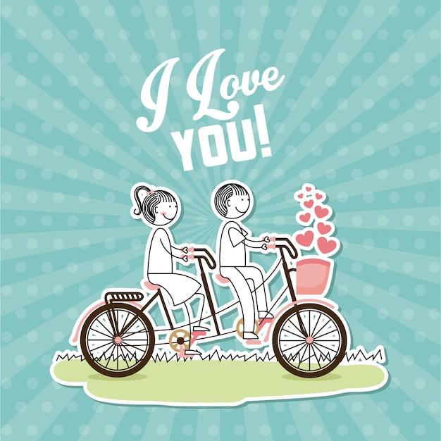 Love postcard Premium Vector
