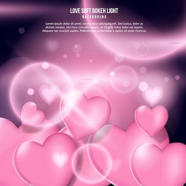 Love soft bokeh light effect Premium Vector