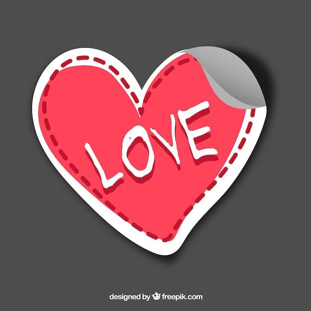 Love sticker Free Vector