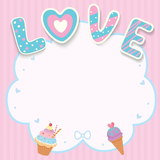 Love sweet card Premium Vector