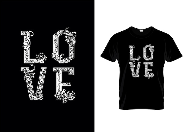 Loveタイポグラフィーtシャツデザイン Premiumベクター