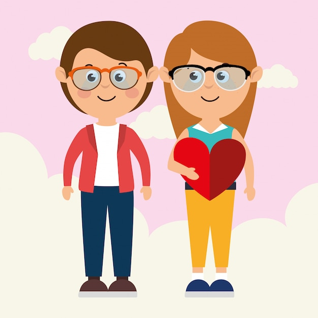 Love and valentines day Free Vector
