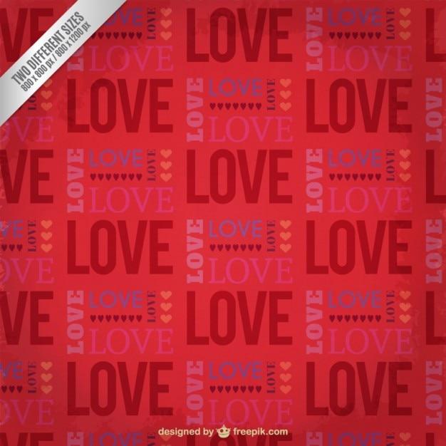Love word pattern Free Vector