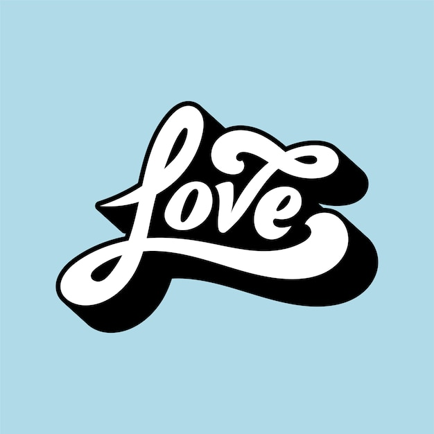 Download Love word typography style illustration Vector   Free Download