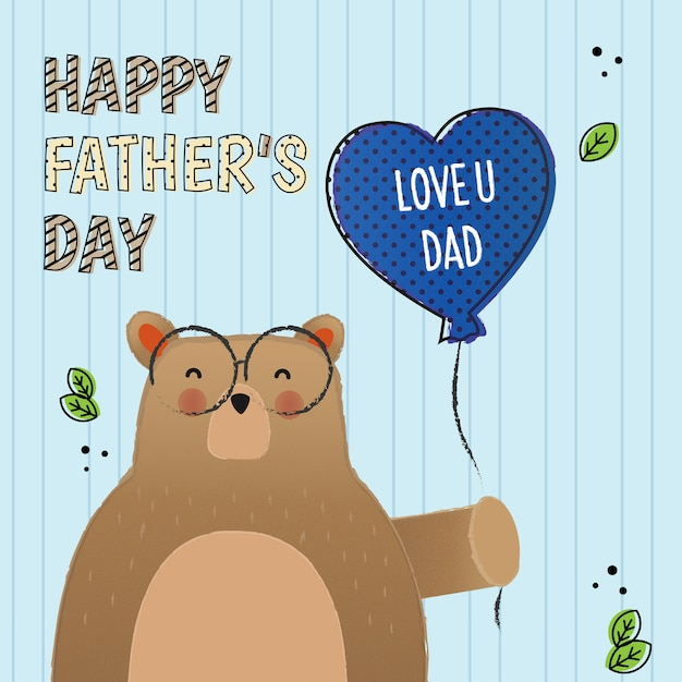 Love you dad, for fathers day Premium Vector