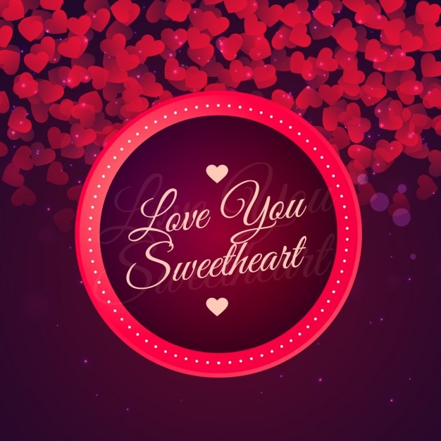 Love Wallpaper Vector : Love you sweetheart background Vector Free Download