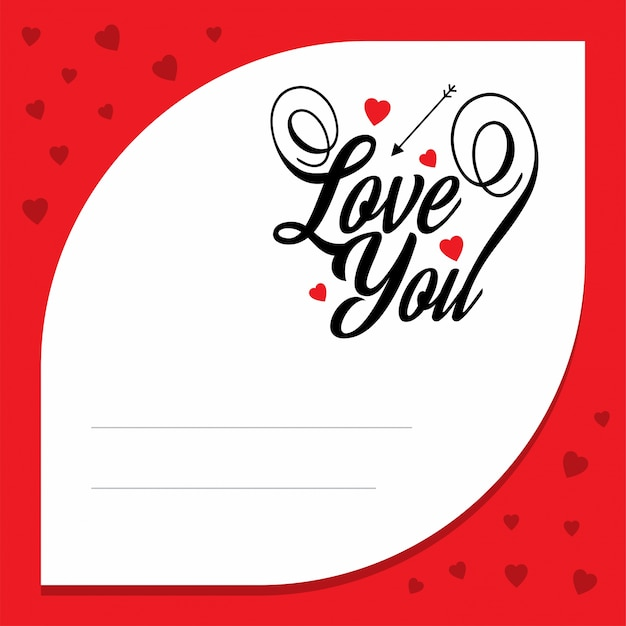 Love you with red Love Letter