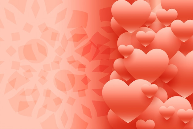 Lovely 3d hearts background Free Vector