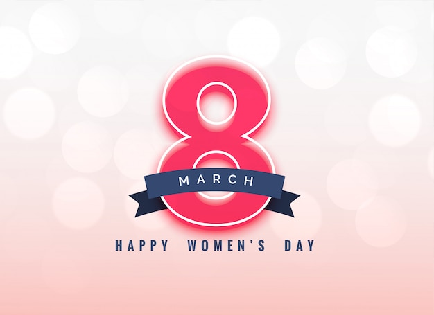 Lovely 8th march women's day background design Free Vector