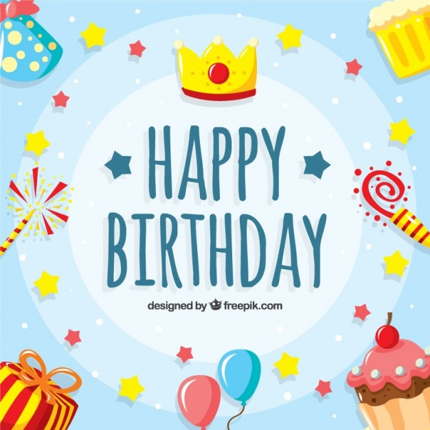 Lovely And Funny Birthday Background Vector