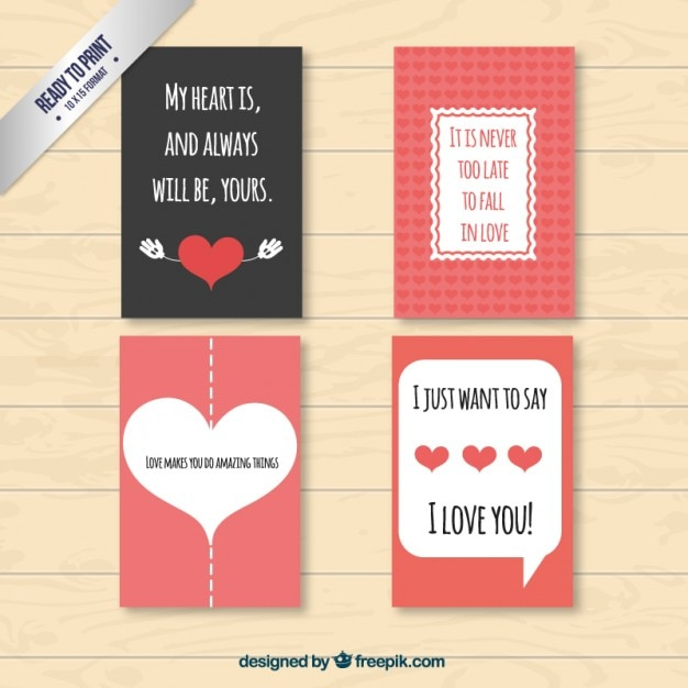 Lovely and nice valentine cards pack Vector – Nice Valentines Cards