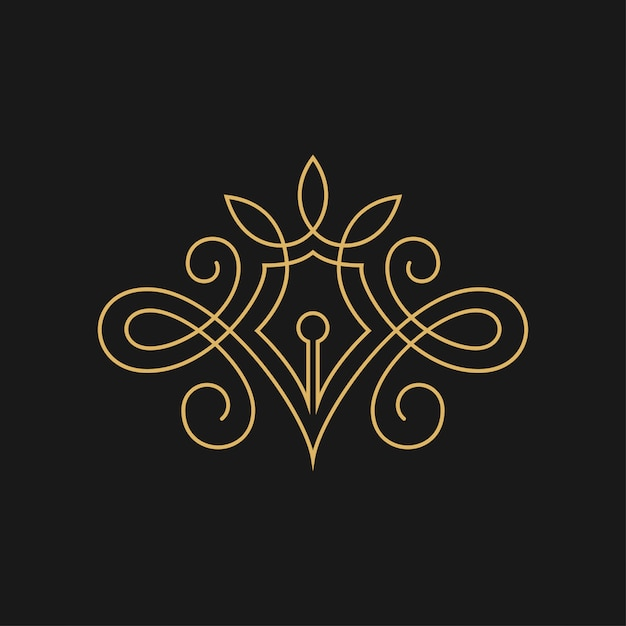 Lovely author or writer vector symbol image Premium Vector