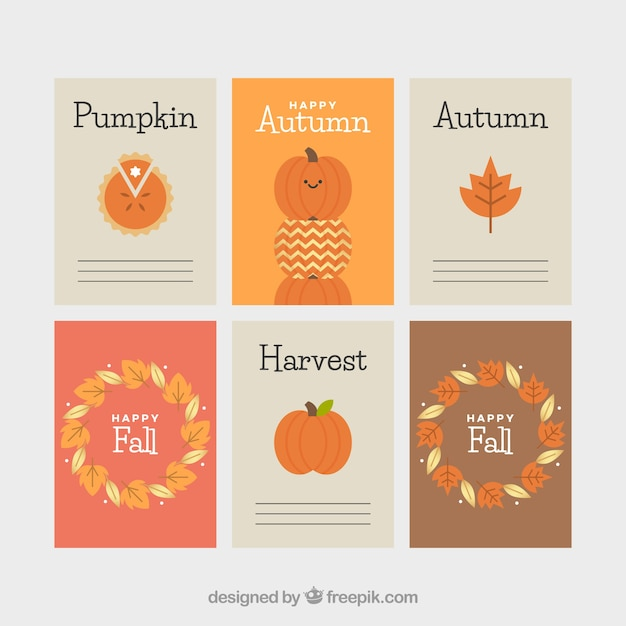 Lovely autumn card collection