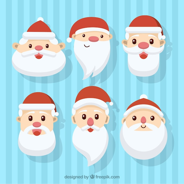 Lovely avatars of santa claus