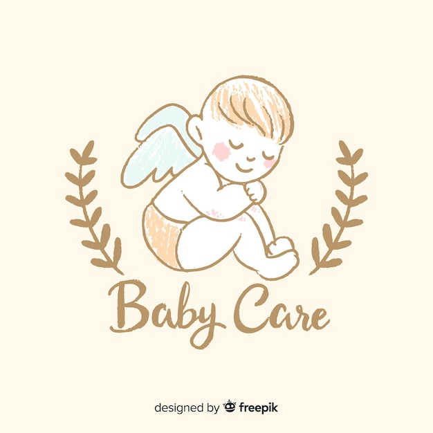 Lovely baby shop composition Free Vector