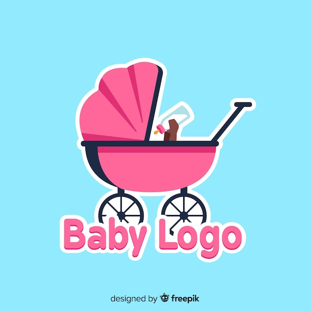 Lovely baby shop logo template Free Vector
