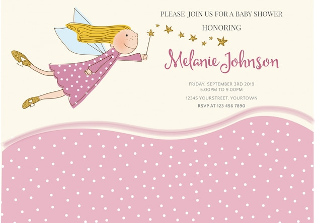 Lovely Baby Shower Card Template Free Vector