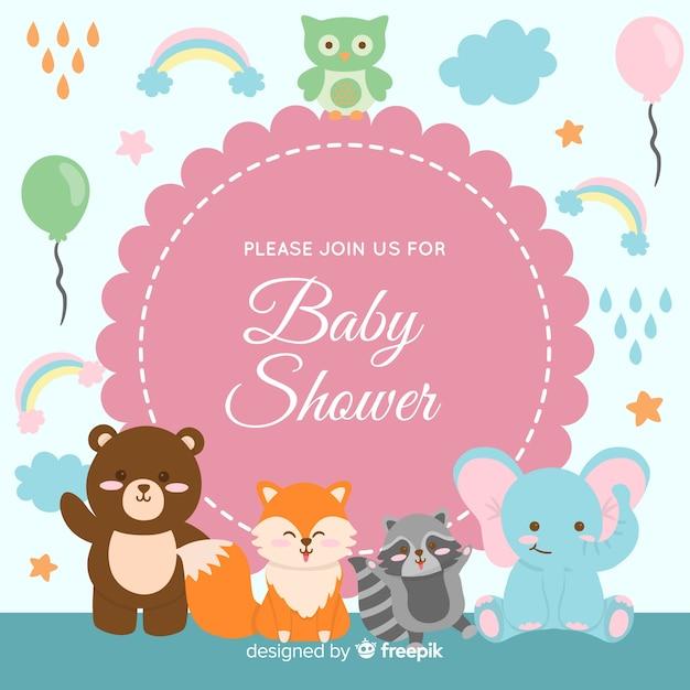 Lovely baby shower design Free Vector