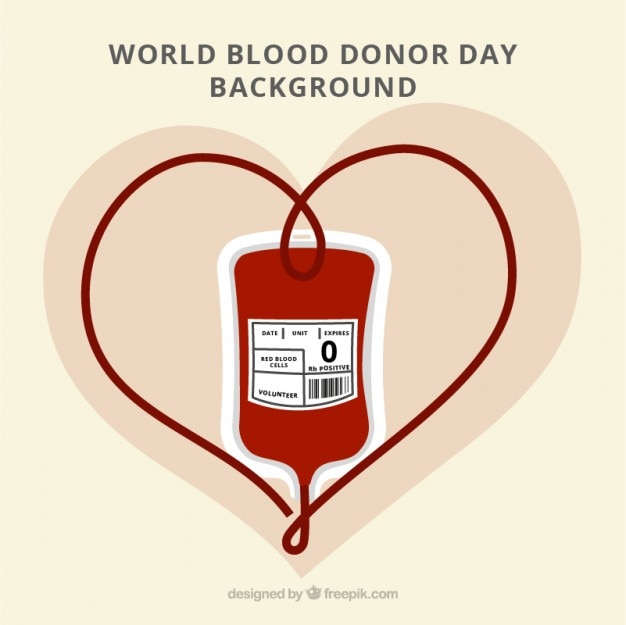 Lovely background of world blood donor day Premium Vector