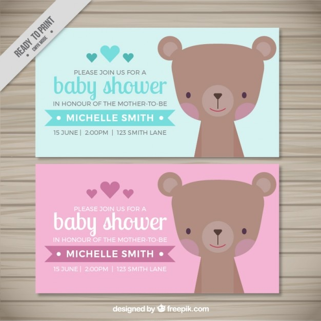Lovely bear baby shower invitations vector free download lovely bear baby shower invitations free vector filmwisefo Choice Image