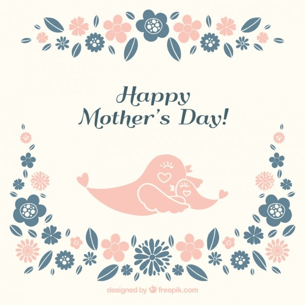 Lovely birds mother\'s day card