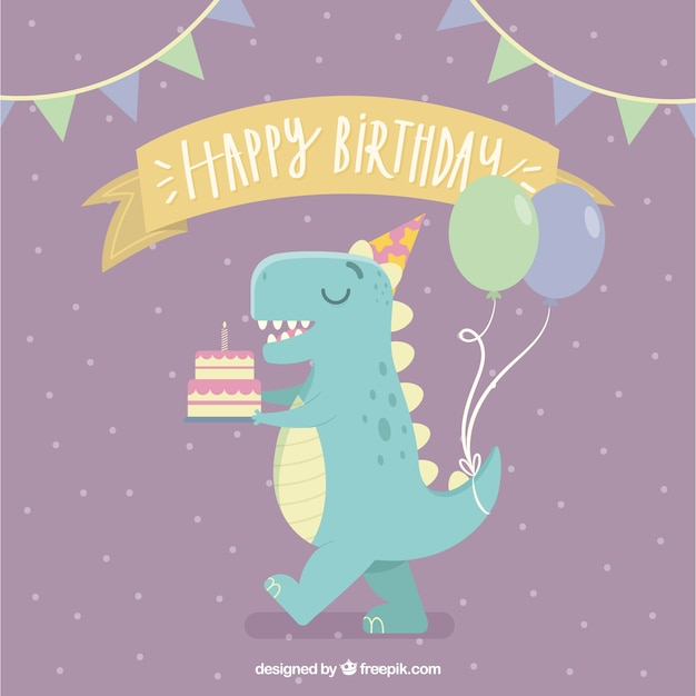 Lovely birthday composition Free Vector
