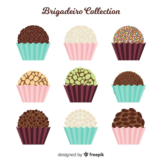 Lovely Brigadeiro Collection Free Vector