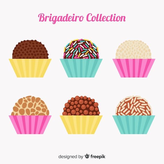 Lovely brigadeiro collection Free Vector