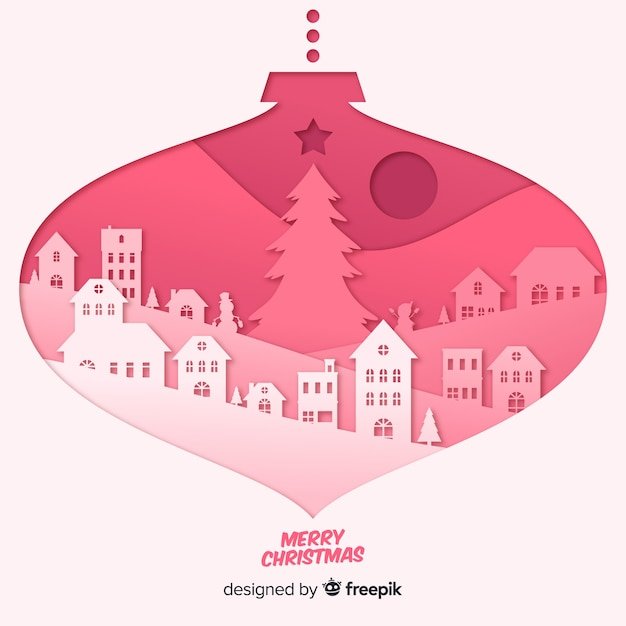 lovely christmas background with paper style vector free download