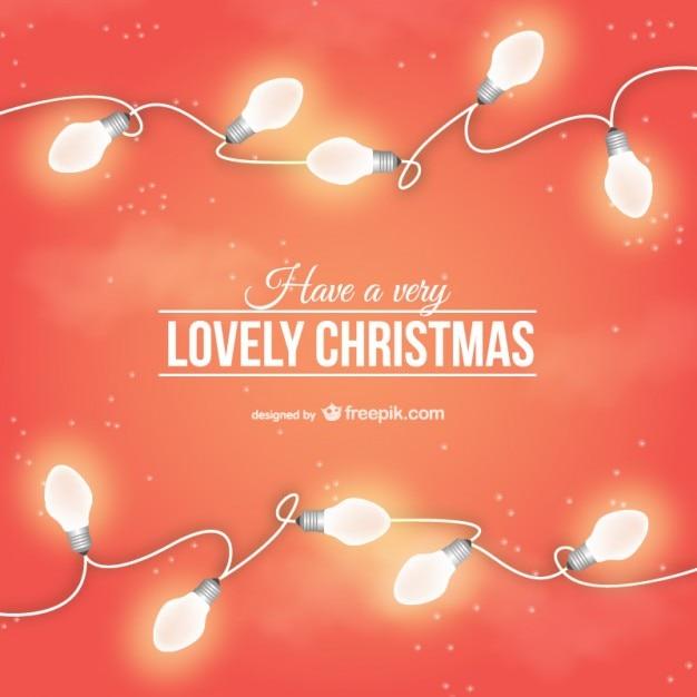 Lovely christmas card with light bulbs vector free download lovely christmas card with light bulbs free vector m4hsunfo