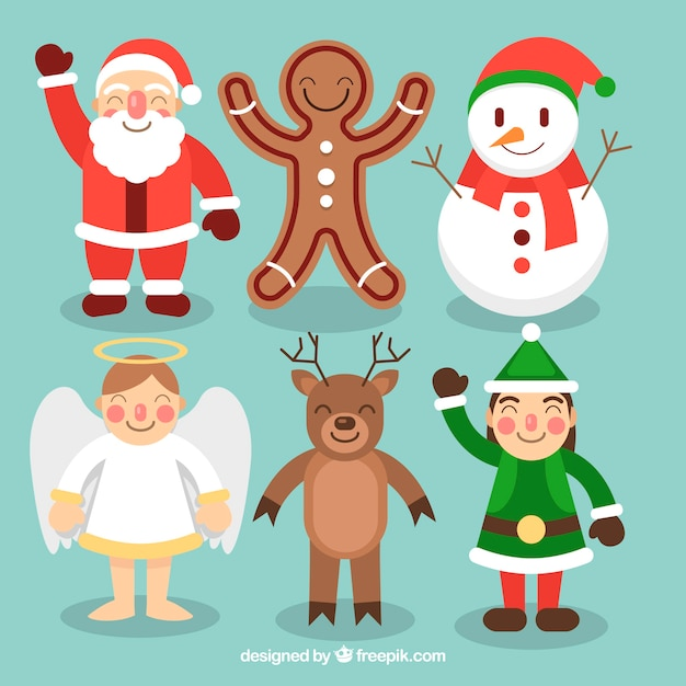 Lovely christmas characters