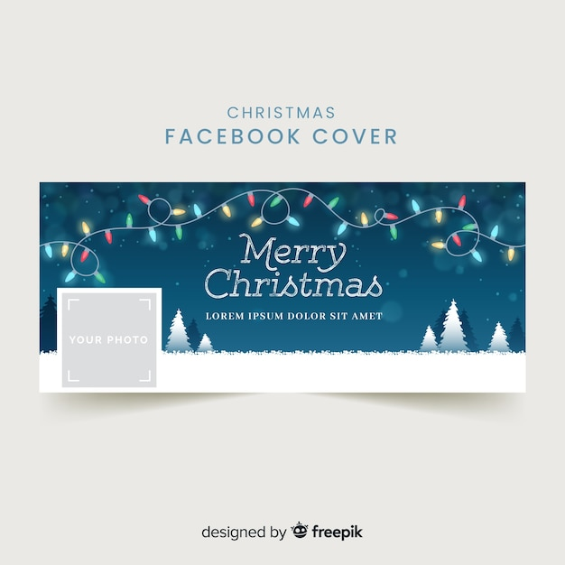 Free Vector Lovely Christmas Facebook Cover