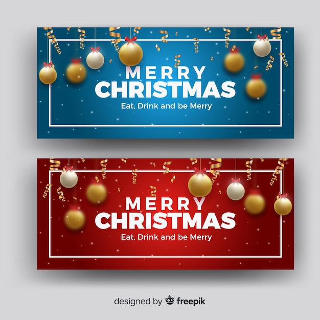 Lovely christmas facebook cover Free Vector