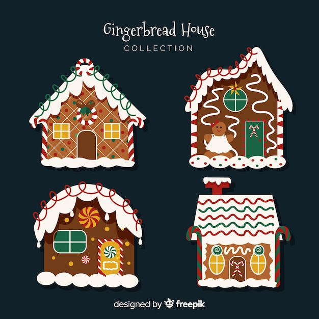 Lovely christmas gingerbread cookies Free Vector