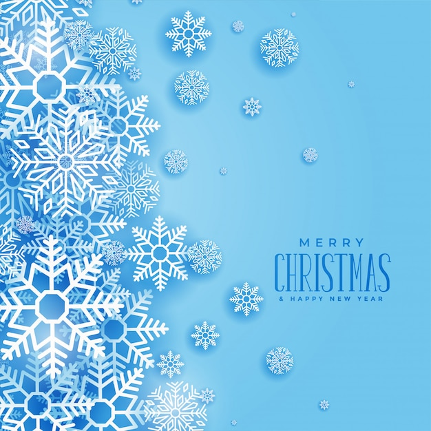 Lovely christmas winter snowflakes background Free Vector