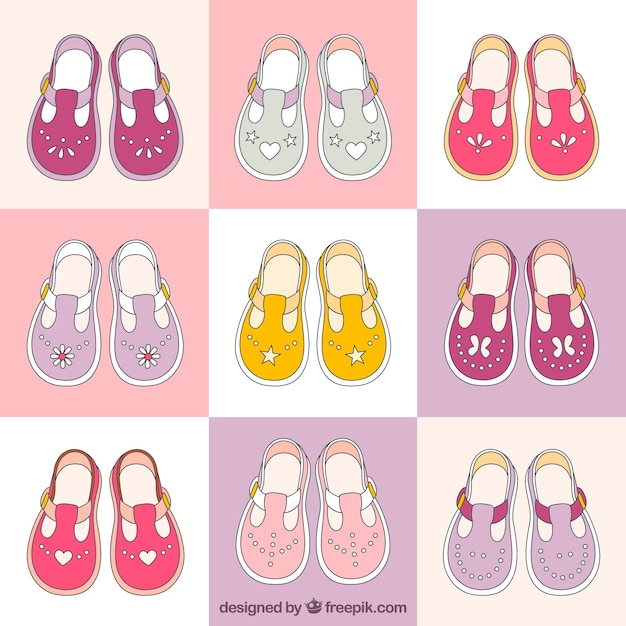 Lovely collection of baby girl shoes